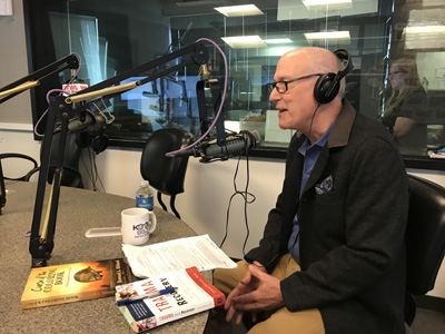 Howard L. Hibbard author at radio interview - Newell Normand Show, WWL in New Orleans, LA on November 3, 2017